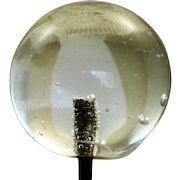 Estate Deco Clear Glass Hat Pin