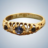 18 CT Sapphire and Diamond Ring