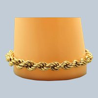 Estate 14K Gold Large Twisted Rope Bracelet