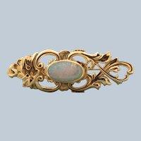 Estate 9 CT Opal Doublet Brooch