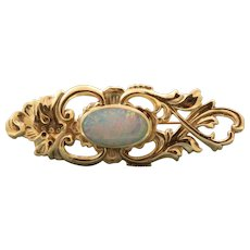 Estate 9 CT Opal Doublet Brooch