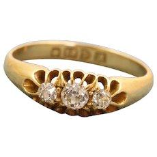 Chester 1912 18 CT Three Stone Diamond Ring
