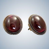 14 K Garnet Earrings