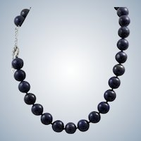Estate Genuine Lapis Matching Necklace and Bracelet