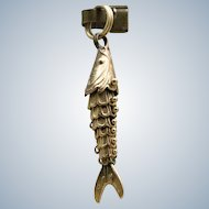 Vintage 14 K Articulated Fish Charm