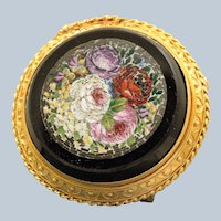 Early 18K Micro Mosaic Brooch