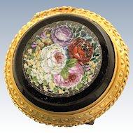 Early 18 K Micro Mosaic Brooch