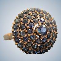 Estate 14 K Rose Gold Sapphire Princess Ring