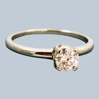 Estate 18K Jabel 0.50 CT Solitaire GIA Certified Diamond