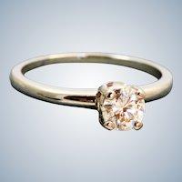 Estate 18K Jabel 0.50 CT Solitaire GIA Certified Diamond