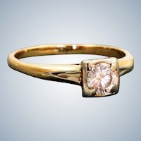 Estate 14 K 0.50 CT Diamond Ring