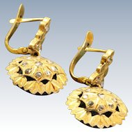 Early 18 K Paste Danity Earrings