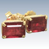 Estate 14 K 2 CT Madagaskar Tourmaline Studs