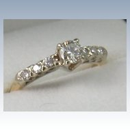 14K Gold 0.55 CT Diamond Ring