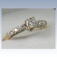 14K Gold 0.55 CT Diamond Ring