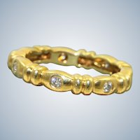 Estate 18K 0.25 CT Diamond Eternity Band