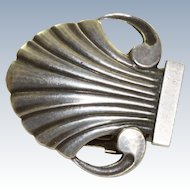 Early Georg Jensen Shell Dress Clip # 246