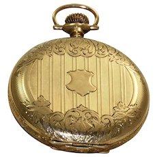 14 K 1907 Waltham Hunter Case Pocket Watch
