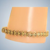 Estate 14 K Flexible Heart Bracelet