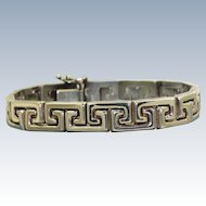 Estate Sterling Greek Key Bracelet