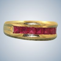 Estate 14K Ruby Band Ring