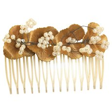 Embellished Faux Pearl Hair Comb