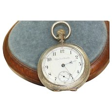 Elgin 1890 Coin Silver Railroad Open Face Pocket Watch
