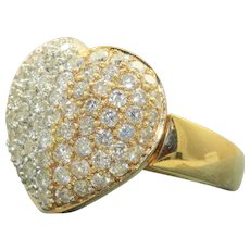 Estate 18 K Two Tone Diamond Ring/Pendant