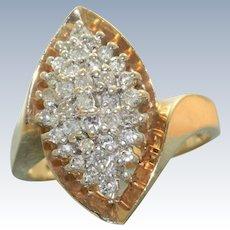 Estate 1950's 10 K Diamond Ring
