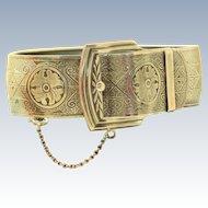 Vintage Sterling Marsh Belt Buckle Bracelet