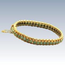 Estate 18 K Turquoise Bracelet