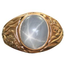 Estate 14 K Russian Star Sapphire Ring
