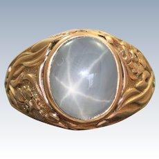 Estate 14 K Russian Star Sapphire Ring