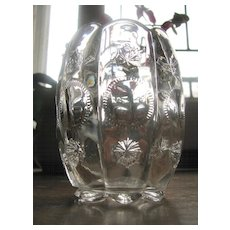 Eapg Dalzell pattern glass 'Priscilla' spooner, Alexis, Late Moon and Star