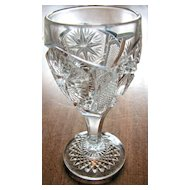 Eapg Imperial Glass, 'Star and File' cordial or wine stem