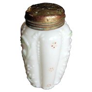 Northwood Glass Paneled sprig Victorian shaker, salt pepper