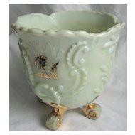 Northwood custard Glass 'Louis XV' spooner