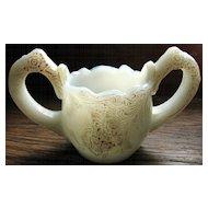 Victorian milk glass toy spooner 'Wild Rose'