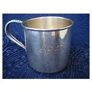 Silver-plate baby cup, Rogers Bros 1847