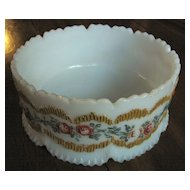 Dithridge milk glass Victorian Large bowl, Colonial pattern 'fern dish'