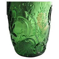 Northwood Glass, Eapg Emerald green 'Louis XV' tumbler