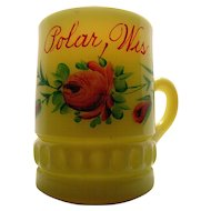 Heisey custard glass, 'Punty band' souvenir mug