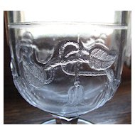 'Clematis' pattern, Eapg Victorian glass spooner, 1870's