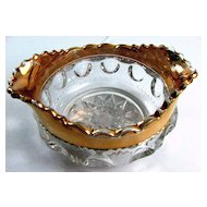 Eapg Adams Glass 'Kings Crown' sauce, berry bowl