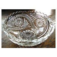 Eapg Imperial glass Hobstar and Tassel pattern bowl