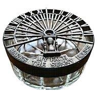 Vintage dresser powder jar, Art Deco Hickok