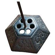 Antique cast iron bill hook, receipt spindle