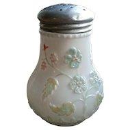 Victorian sugar shaker, Decorated milk glass