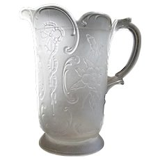 Sultan pattern, 'Wildrose & Bowknot' water pitcher, McKee Glass