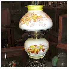 Pittsburgh Kerosene Oil Lamp with Matching Painted Base and Shade